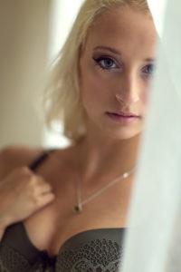 blonde with lingerie boudoir